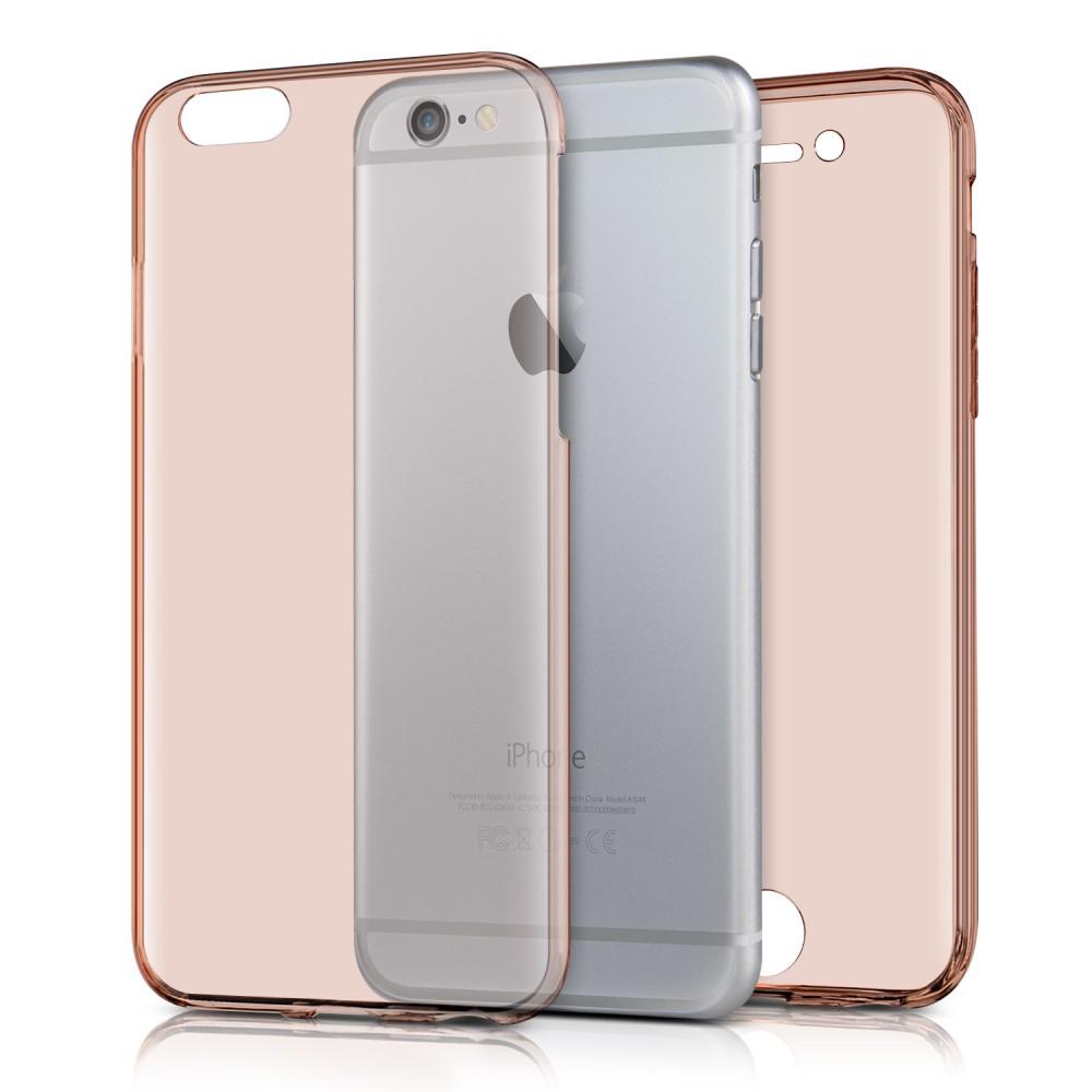 Průhledný oboustranný kryt pro Apple iPhone 6 - růžová 2cbd411fb00