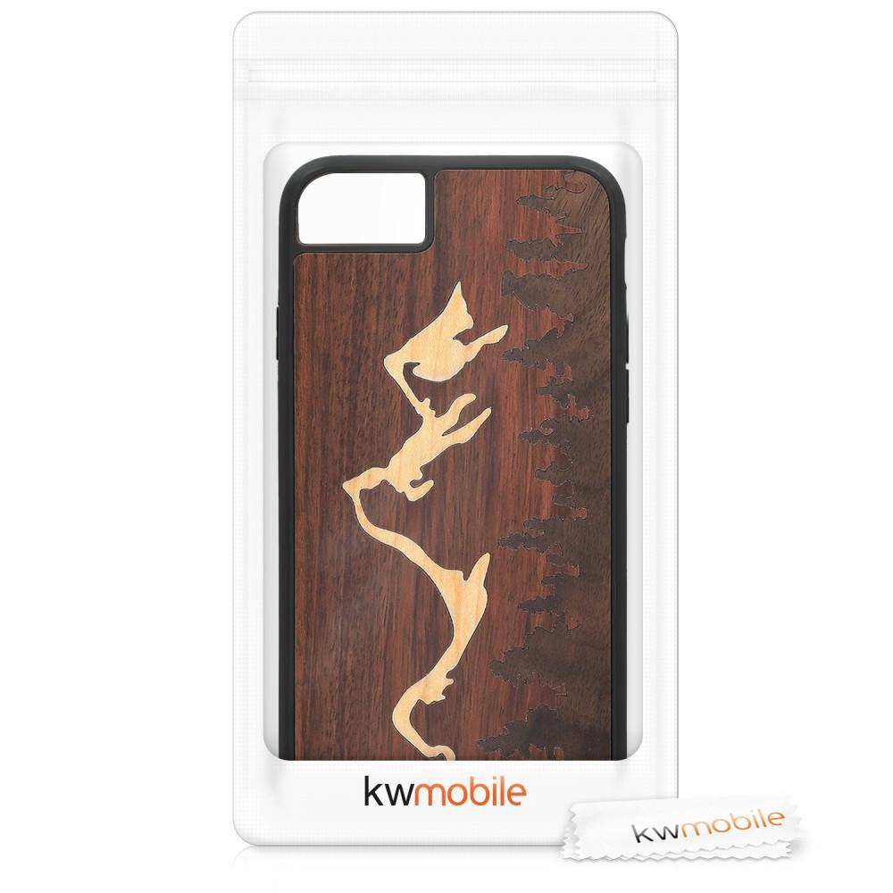Drevené púzdro s dizajnom čerešňové drevo pre Apple iPhone 6 - tmavo hnedá c1a7f136bcf