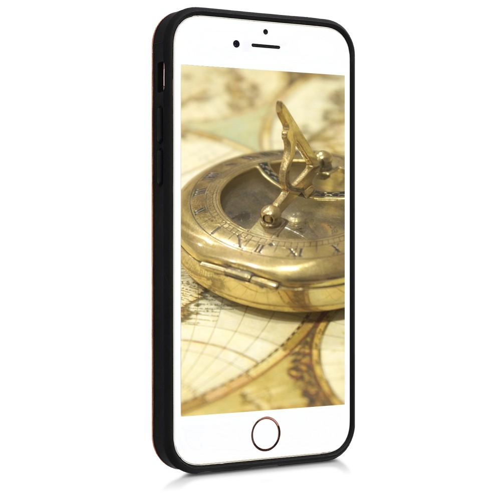 Drevené púzdro s dizajnom baroko pre Apple iPhone 6 - tmavo hnedá 80648ec15c0