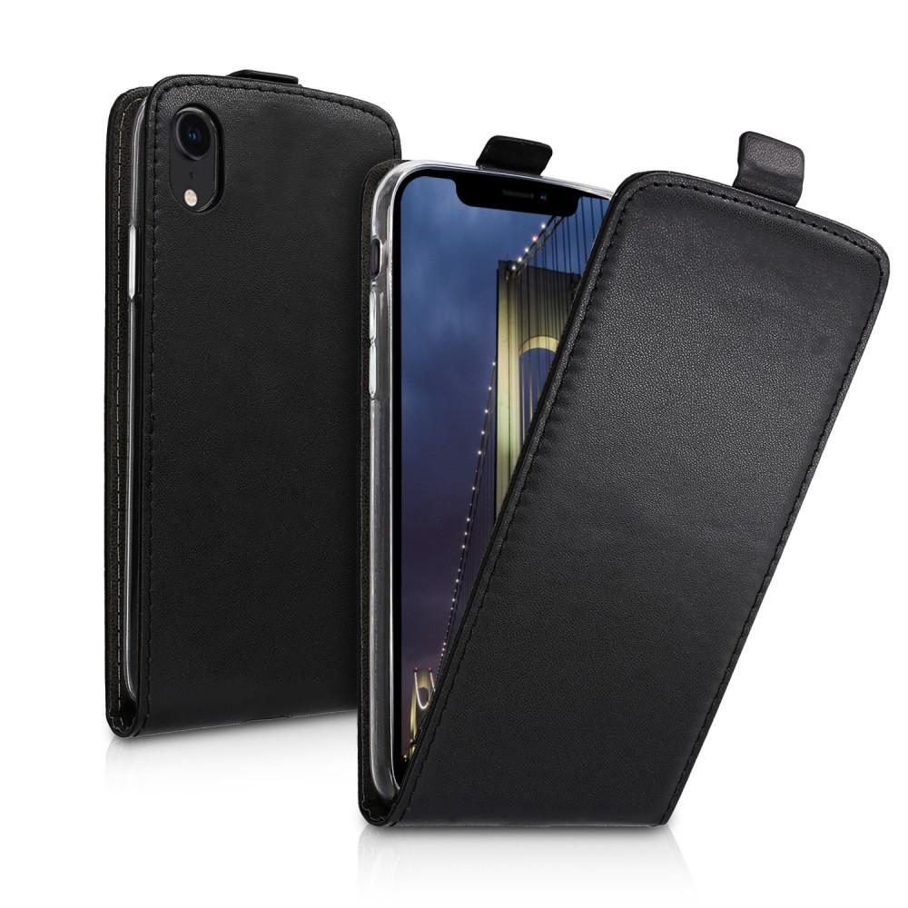 Přední flipové pouzdro pro Apple iPhone XR - černá a414cac1ad8